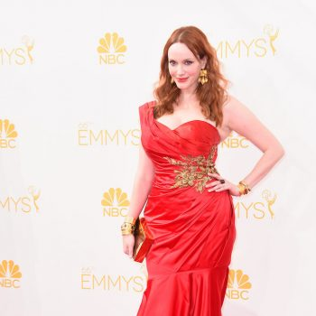 Christina-Hendricks-Marchesa-Dress-Neil-Lane-Jewellery-2014-Emmy-Awards