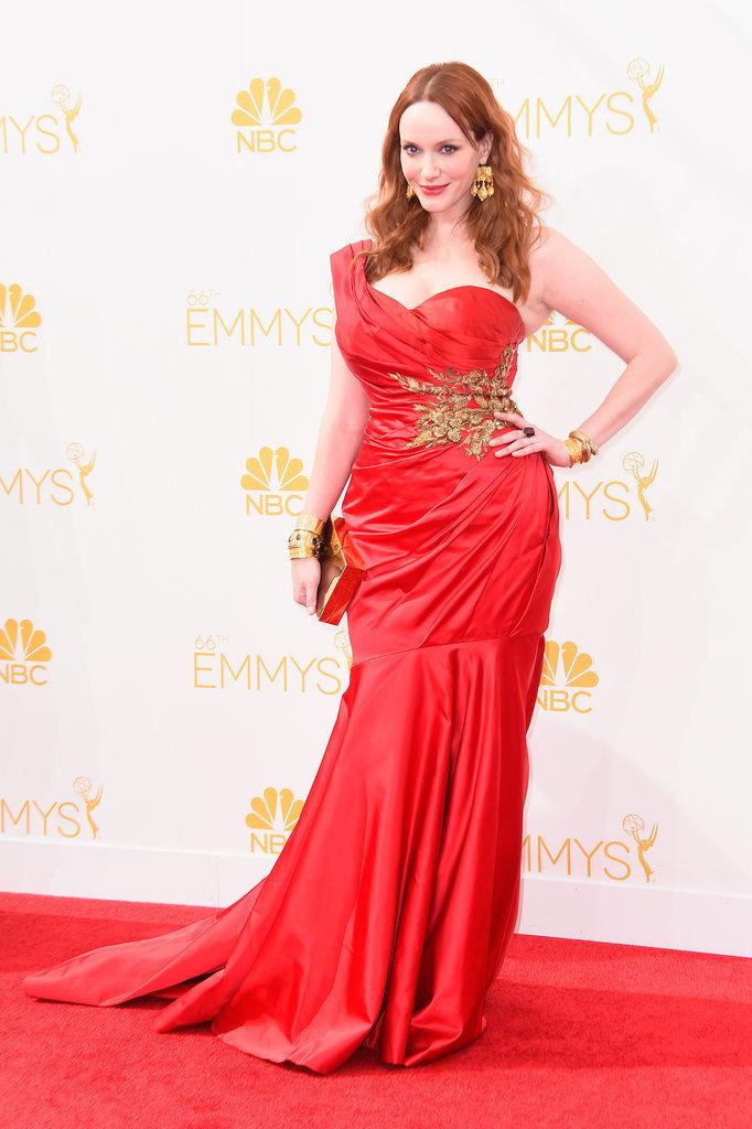 Christina-Hendricks-Marchesa-Dress-Neil-Lane-Jewellery-2014-Emmy-Awards