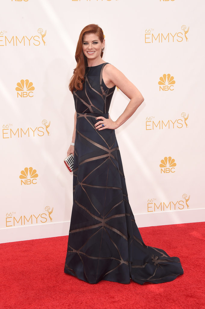 Deborah Messing With a Judith Leber Clutch at the 2014 Emmy Awards