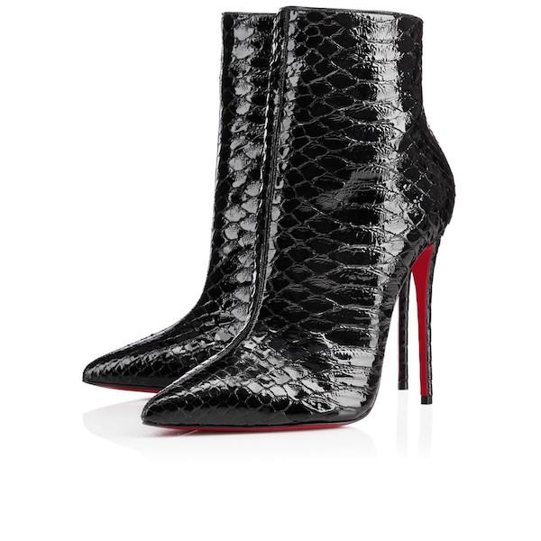 Draya-Micheles-Just-Enaj-Enaj-Sensation-Bodycon-Dress-in-Oxblood-and-Christian-Louboutin-Python-So-Kate-Booties-