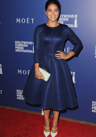 Gina-Rodriguez-in-La-Quan-Smith-Hollywood-Foreign-Press-Association-Installation-Dinner-392×560
