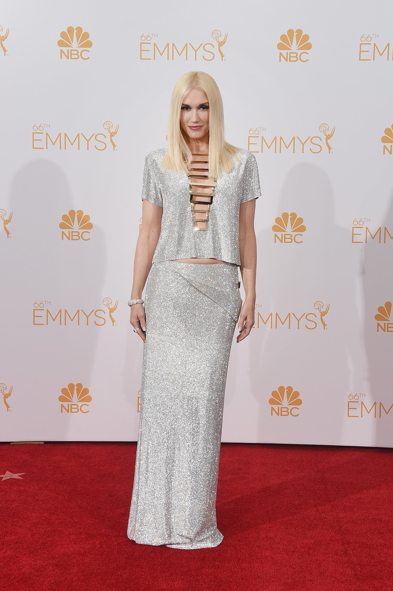 Gwen Stefani Versace 2014 Emmy Awards Emmys 2014 Best Dressed
