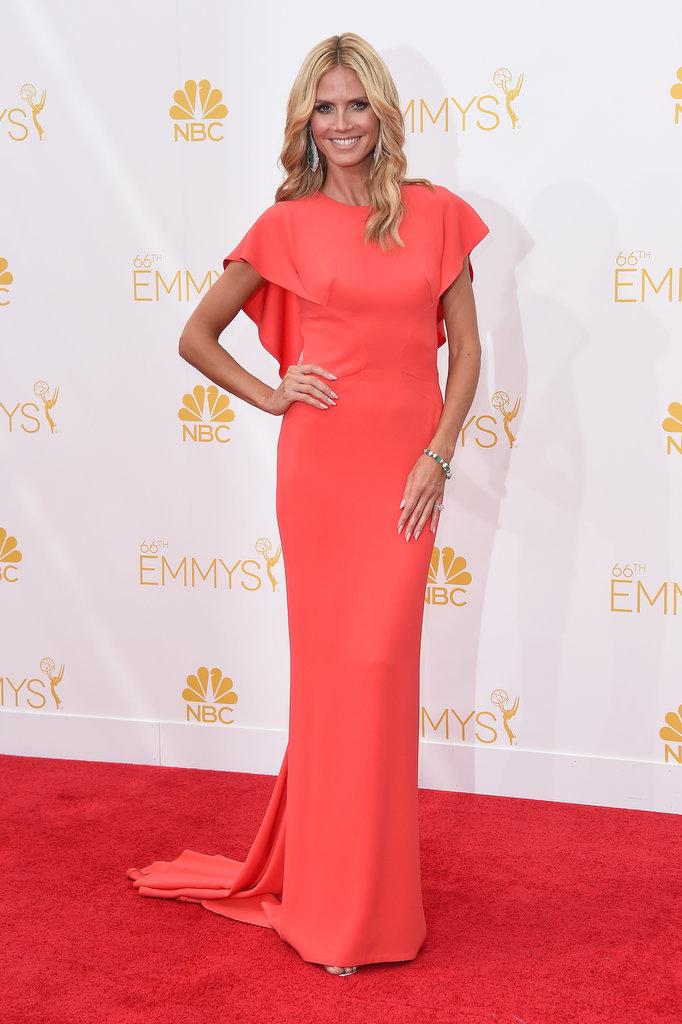 Heidi Klum in Zac Posen 2014-Emmy-Awards