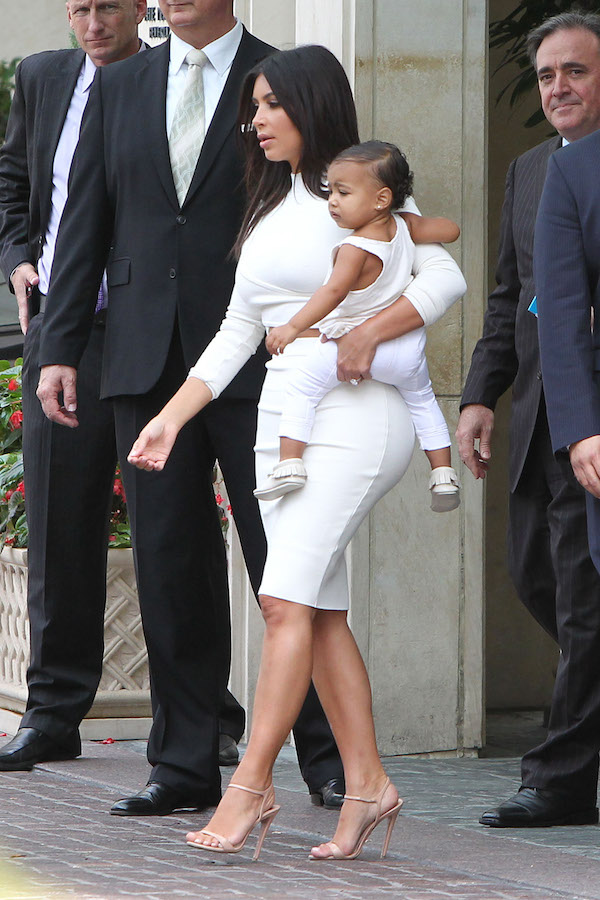 Kim Kardashian and Nori go out for a fancy lunch date at The Peninsula