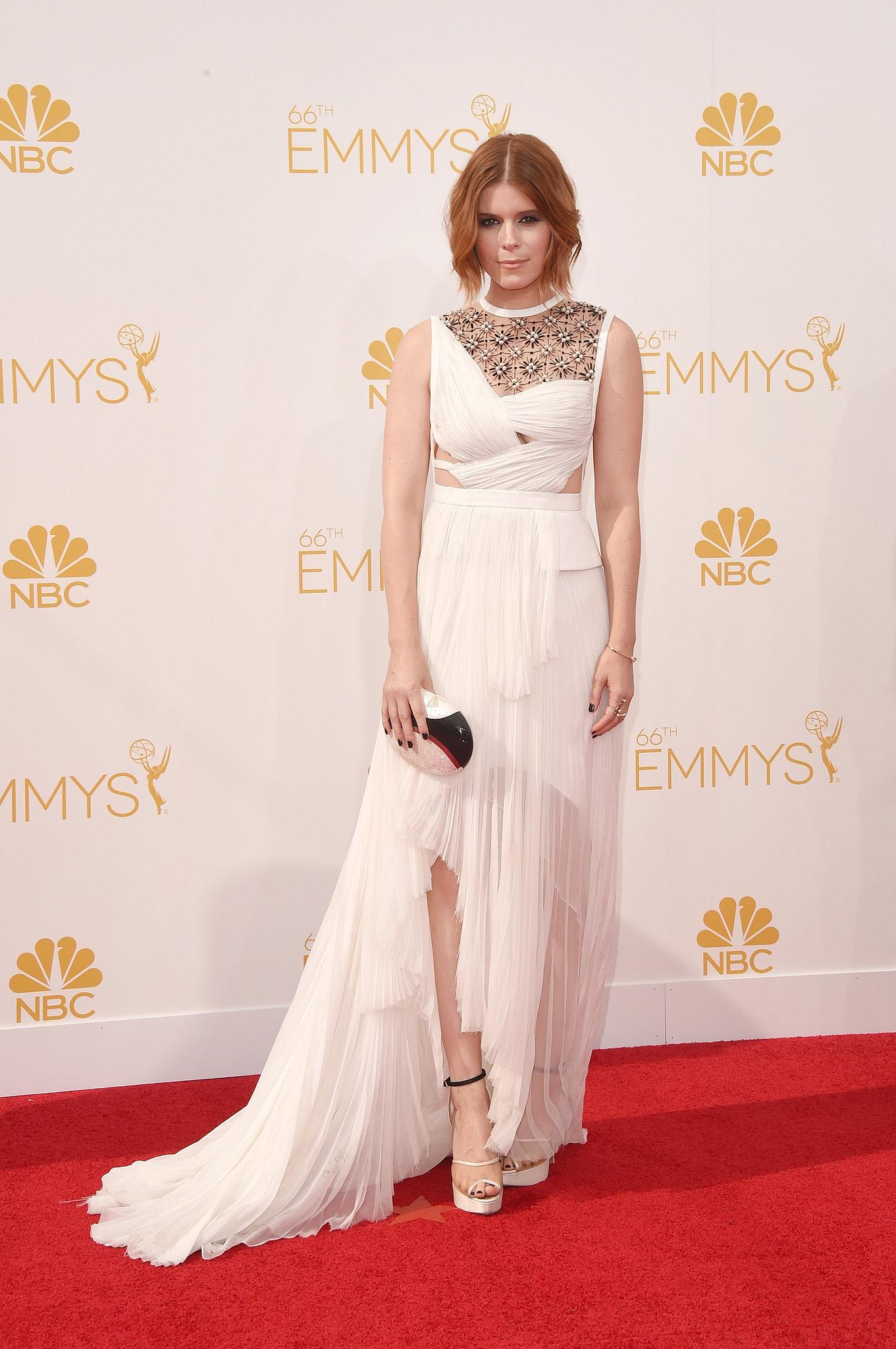 Kate Mara in J. Mendel at the 2014 Emmy Awards