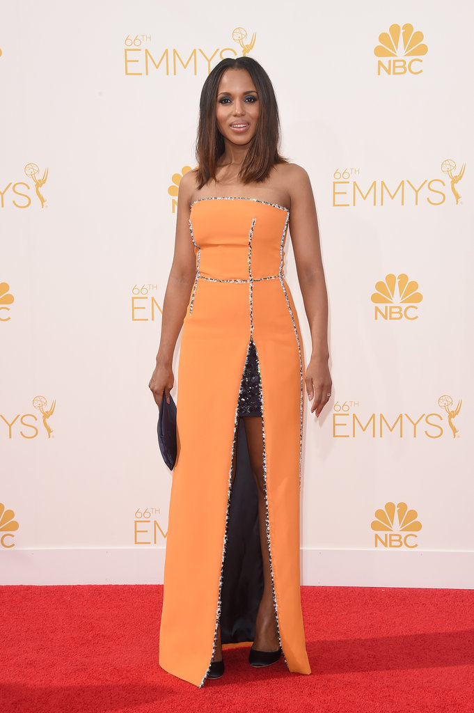 Kerry Washington Prada 2014 Emmy Awards Kerry Washington in Prada At The 2014 Emmys Awards