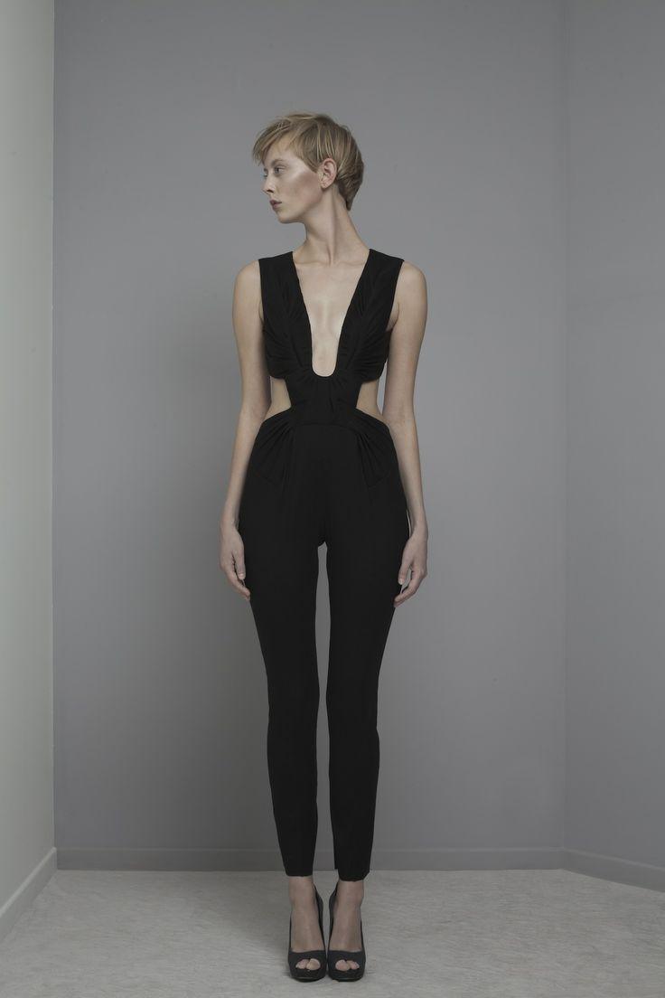 Yiqing Yin Baci black Jumpsuit Spring/Summer 2014