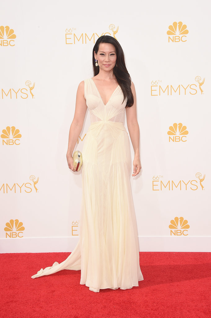 Lucy Liu at the 2014 Emmy Awards