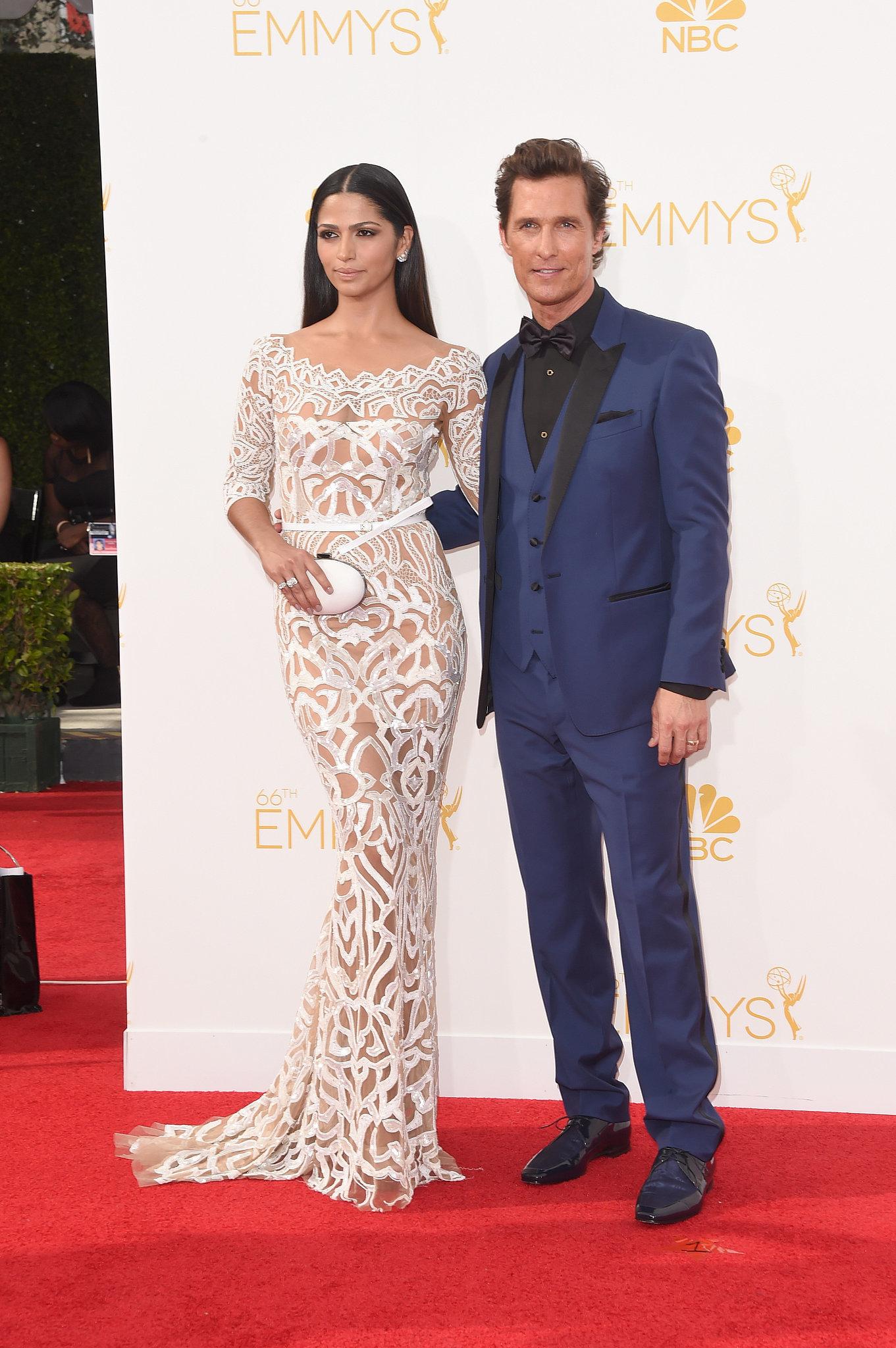Matthew McConaughey and Camila Alves at the 2014 Emmy Awards