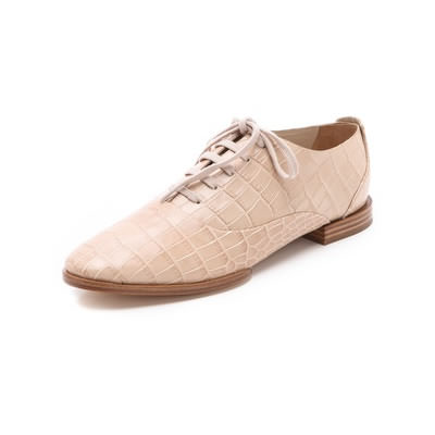 Alexander Wang Ingrid Lace Up Oxford Almond Croc