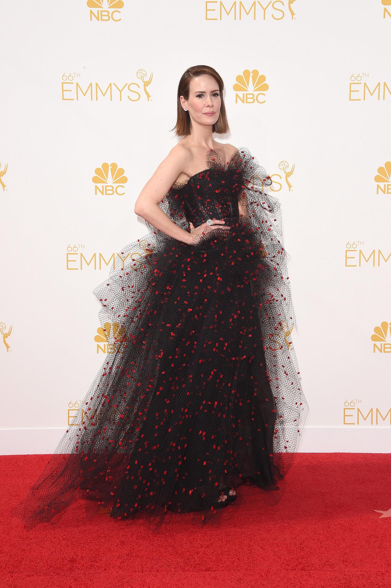 Sarah Paulson in Armani at the 2014 Emmy Awards