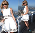 Taylor Swift In Monica Rose for Lovers + Friends at The  Yahoo Live Stream