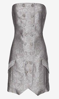 Jenni Kayne Snake Print Strapless Dress