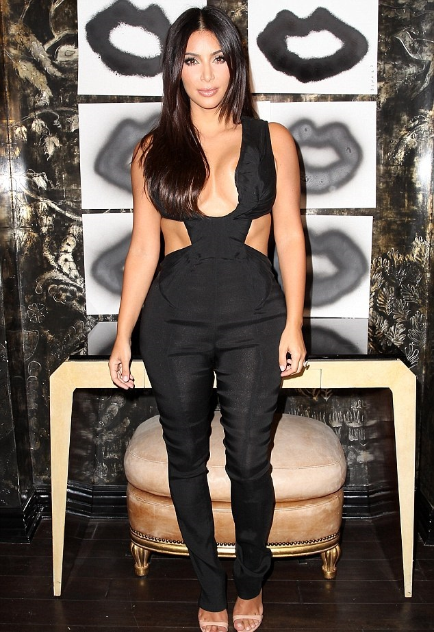 Kim Kardashian at Fig & Olive Restaurant