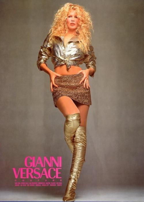 Claudia Sciffer Versace Ad 1994