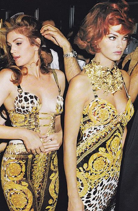 Cindy and Linda in Versace