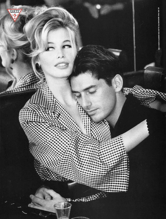 claudia schiffer vintage guess ads fashionsizzle