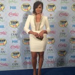 Demi Lovato In Elisabetta Franchi at The  2014 Teen Choice Awards