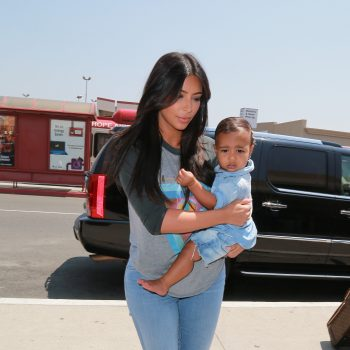 Kim Kardashian with her baby North