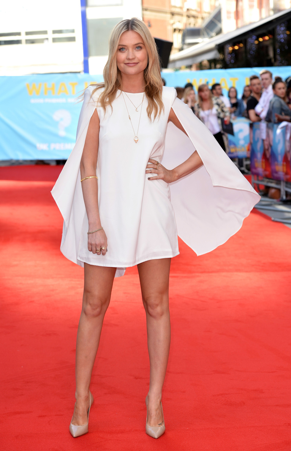 Laura whitmore in rare london at the what if london Celeb style fashion uk