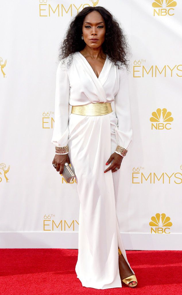 promo code a82f9 f6220 Angela Bassett In Elisabetta Franchi In At The 2014 Emmy ...
