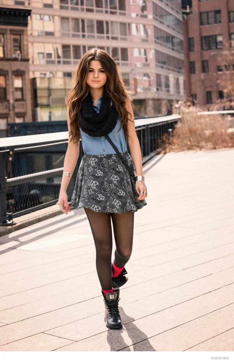 selena gomez adidas neo 2014 fall clothing04 774x1200 Selena Gomez  In  adidas NEO Fall 2014 Ads