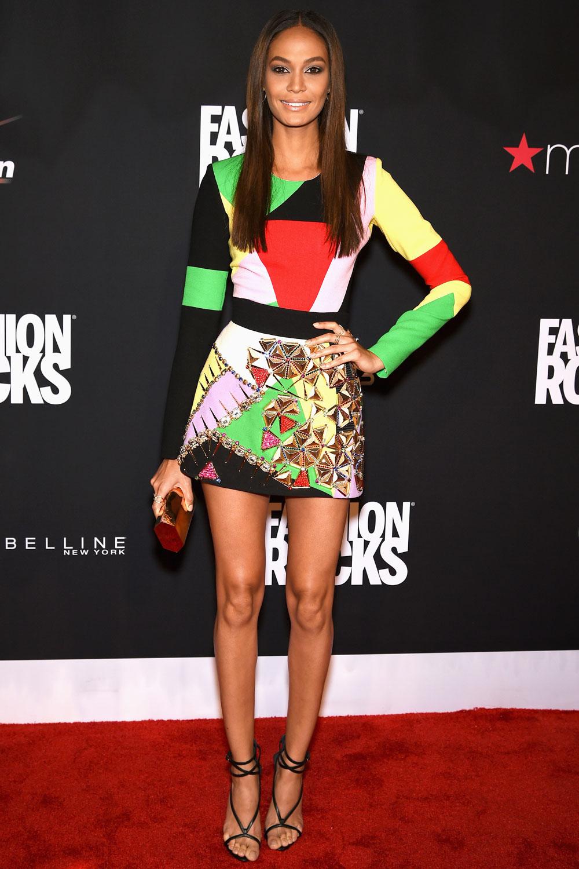 01joansmalls1 Joan Smalls wears  Fausto Puglisi  at  Fashion Rocks 2014