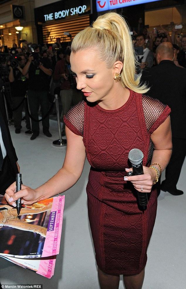 Britney -Spears -wears- Tadashi -Shoji- at- 'The -Intimate -Britney -Spears'- Poland -Fashion- Show