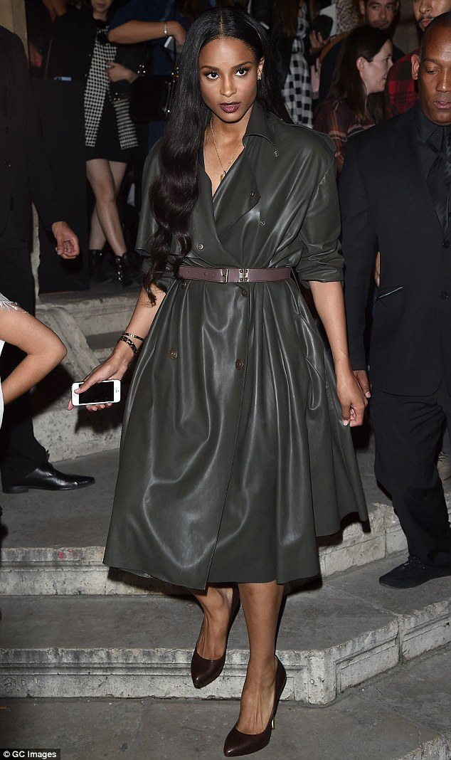 Ciara- at- Lanvin - Spring -2015- Front- Row