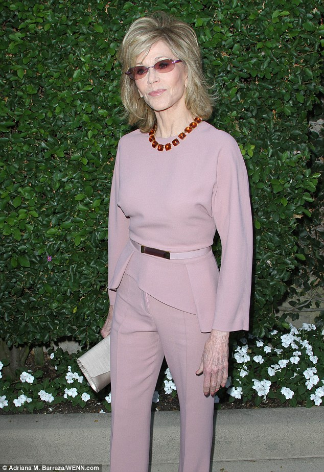 Jane -Fonda- wears -Elie -Saab -at -the - The- Rape -Foundation's- Annual -Brunch