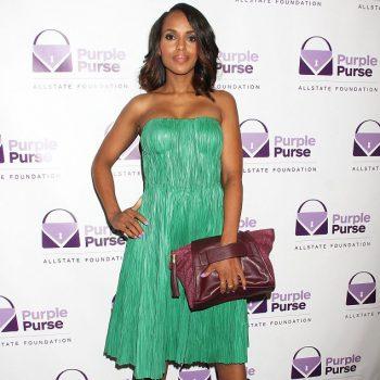 2-Kerry-Washingtons-2014-Allstate-Foundation-Purple-Purse-Programe-Alexander-Mcqueen-Green-Strapless-Bustier-Dress-and-Casadei-Grape-Suede-Pumps
