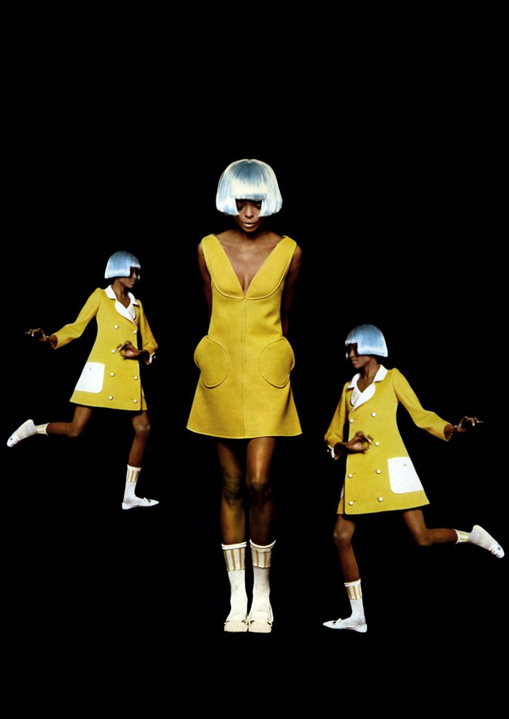 Diana Ross for André Courreges by Bert Stern