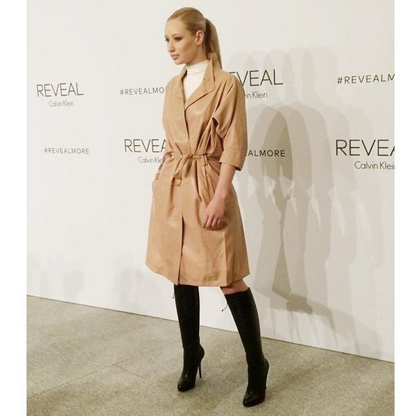 Iggy Azalea wearing Calvin Klein