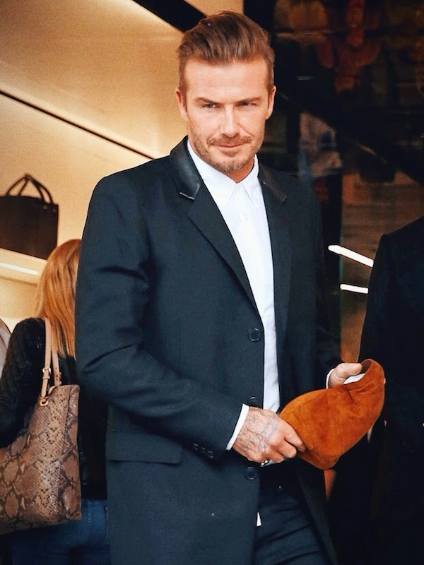 David+Beckham+wears+Saint+Laurent+by+Hedi+Slimane+leather+collar+coat+at+Victoria+Beckham+store+opening+London+September+2014