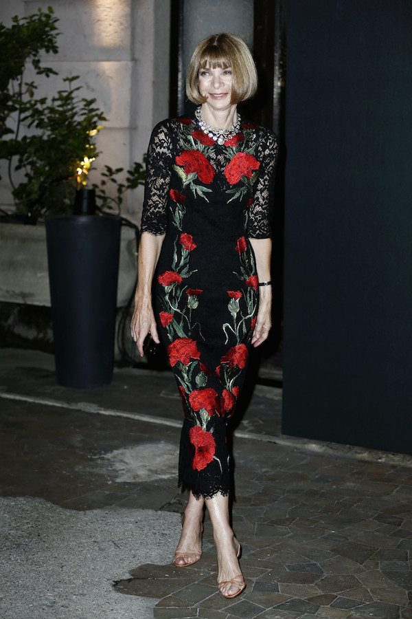 Anna Wintour in Dolce and Gabanna Spring 2015