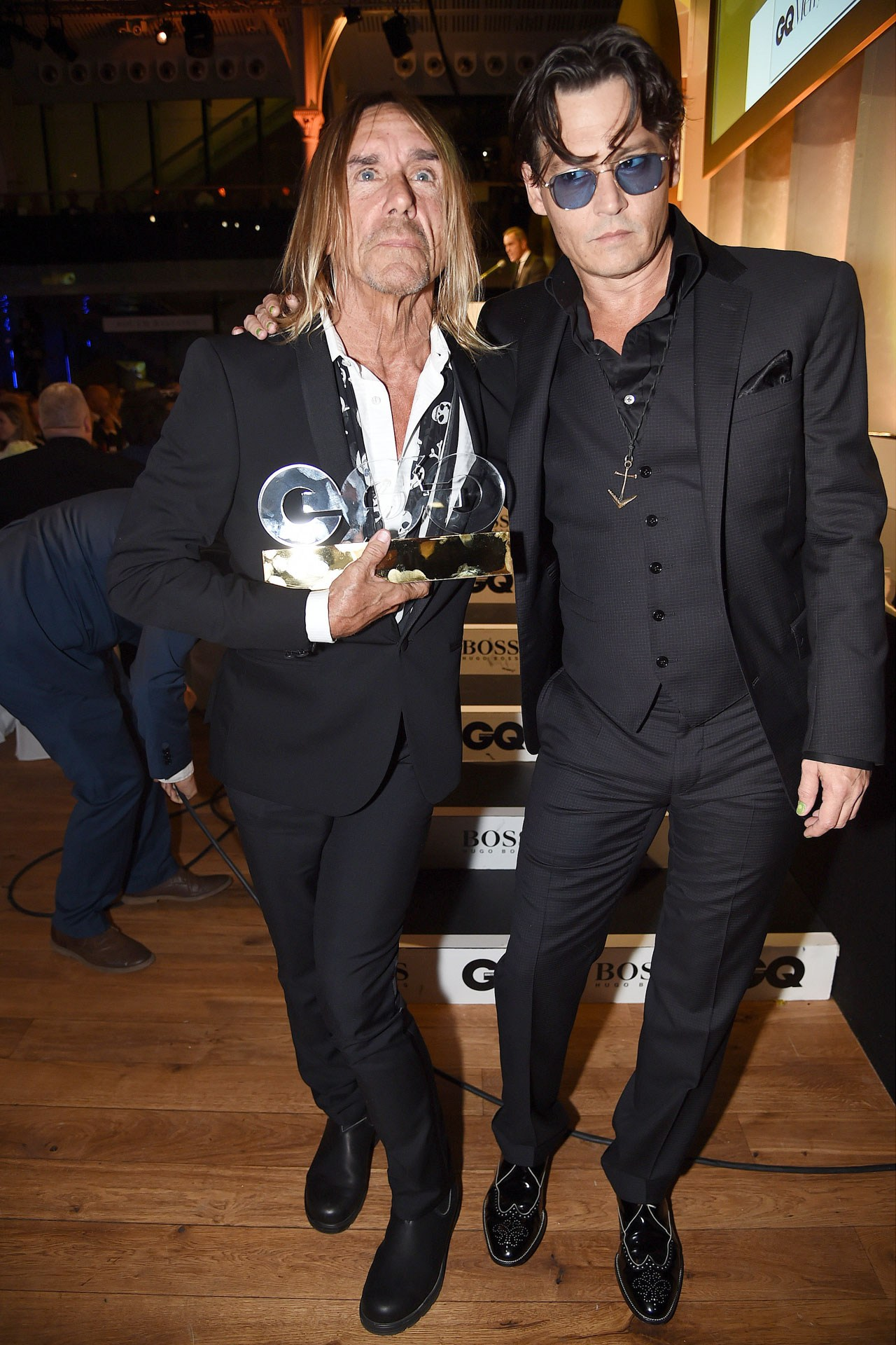 Johnny Depp presented Iggy Pop with the Icon award.