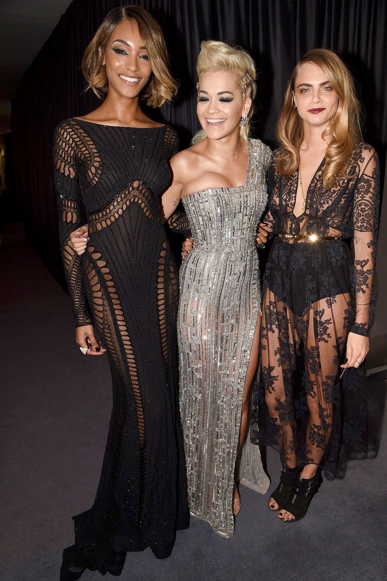 Jourdan Dunn, Rita Ora and Cara Delevingne.