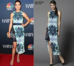 Kate Walsh  wears  Julia Korol at the NBC & Vanity Fair 2014-2015 TV Season Event