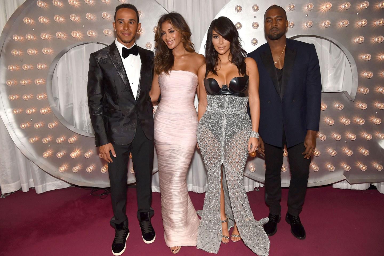Lewis Hamilton, Nicole Scherzinger, Kim Kardashian and Kanye West.