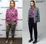 Rose Byrne wears Thakoon Addition Visiting SiriusXM Studios