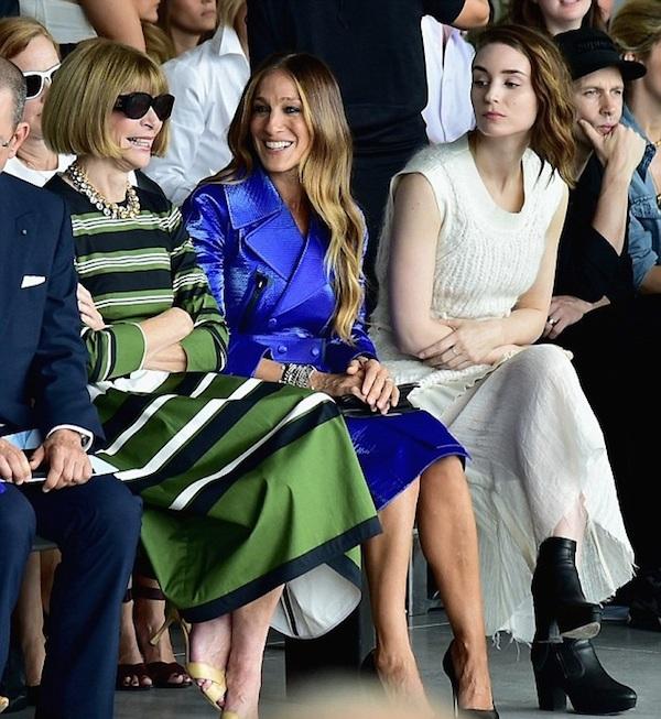 Sarah Jessica Parker , Anna Wyntour , and Rooney Mara at Calvin Klein Spring 2015