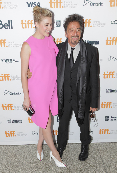 Greta Gerwig and Al Pacino
