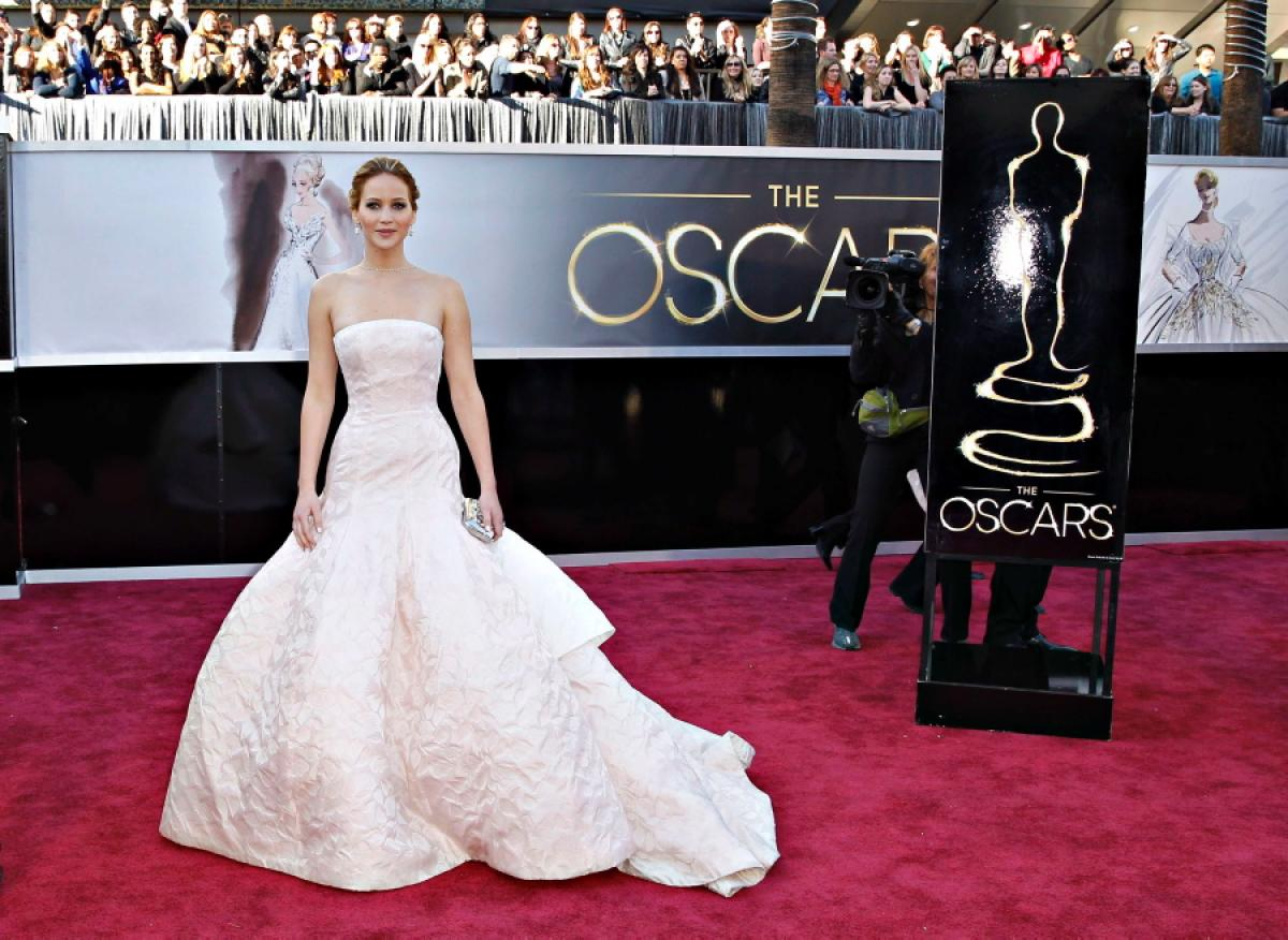 In Dior Couture at The Academy- Awards Feb 24,2013