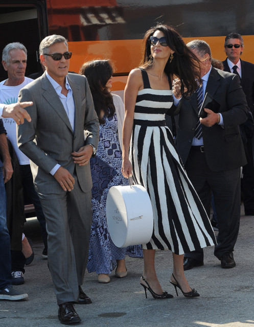 George Clooney and Amal Alamuddin in Venice