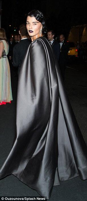 Crystal -Renn - in- Zac- Posen- at- Harper's -BAZAAR- Celebrates- Icons- By- Carine -Roitfeld -Carpet- Roundup