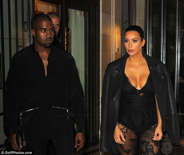 Kim- Kardashian - and- Kanye- West -at- Givenchy- show -for- Paris- Fashion -Week
