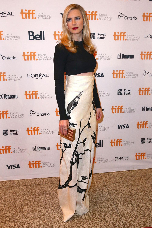 britmarling 1 Brit Marling wears  Alexander McQueen & Proenza Schouler &  at  'The Keeping Room' Toronto Film Festival Premiere