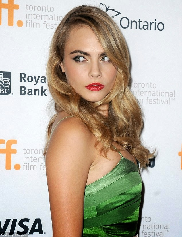 """Cara- Delevingne- attends- """"The- Face- Of -An -Angel"""" premiere- at -the -2014 -Toronto- International- Film -Festival."""