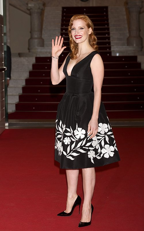 Jessica- Chastain- wears- Oscar -de -la -Renta -at- 'The- Disapearance -of -Eleanor- Rigby'- Spain- Premiere