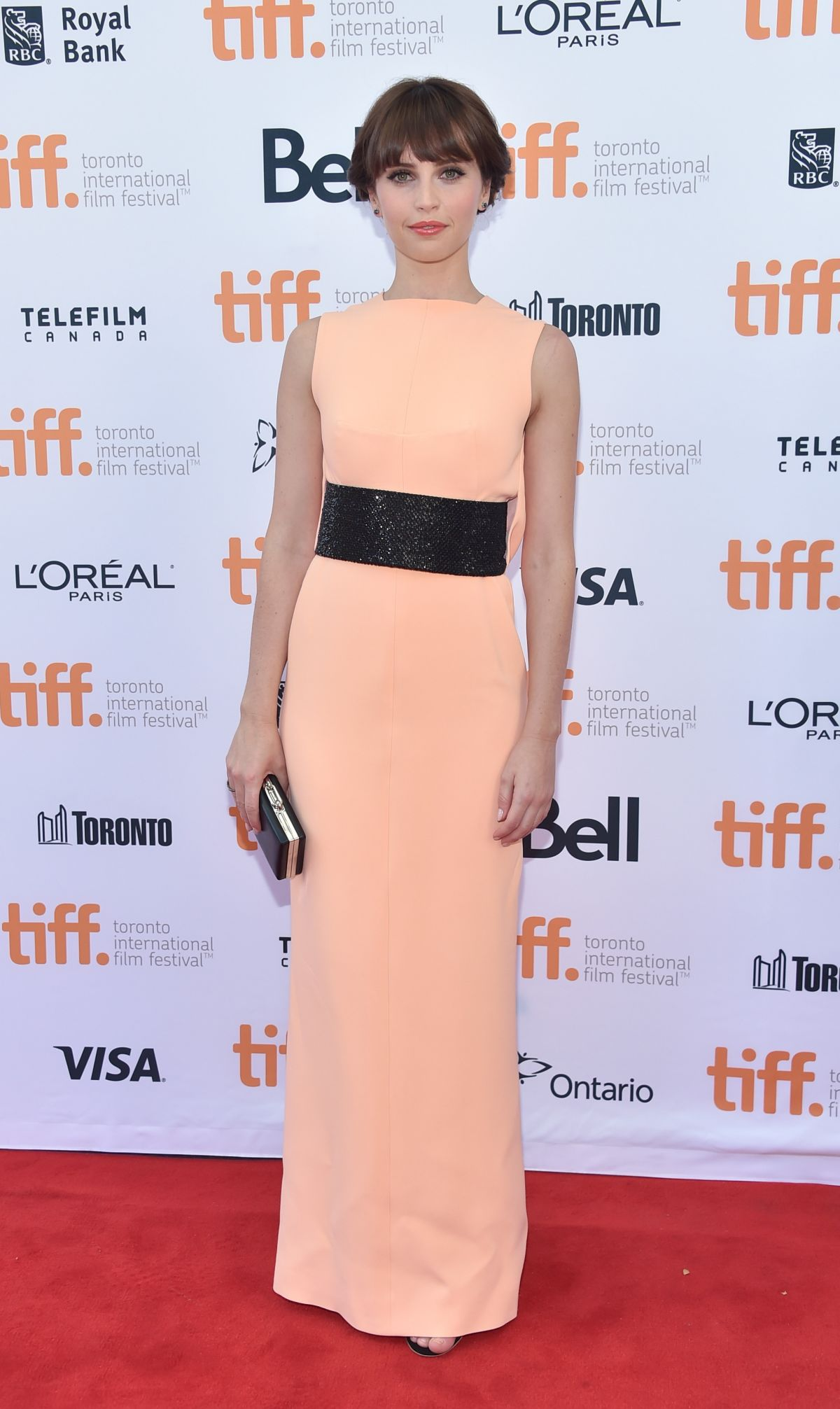 felicity jones at the theory of everything premiere in toronto 1 Felicity Jones in  Balenciaga The Theory of Everything' Toronto Film Festival Premiere